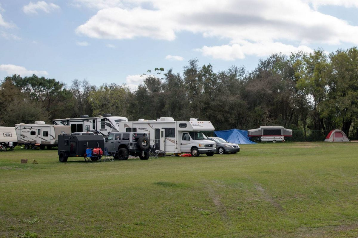 Camp ground area at Skydive City Z-Hills