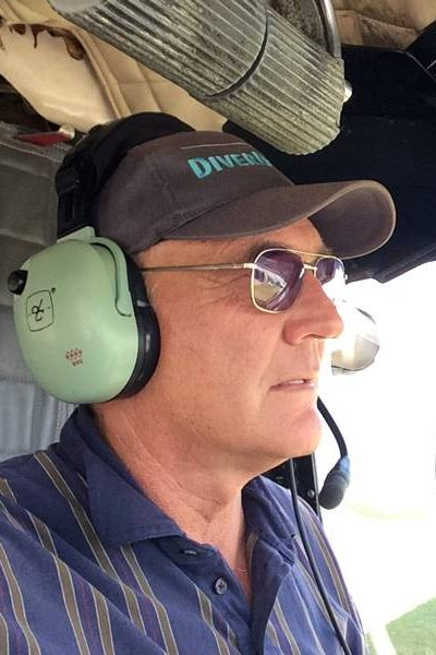Dennis Downing driving an aircraft for skydivers to enjoy Florida skydiving