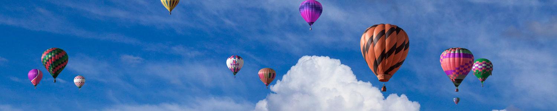 Air balloons in the air.