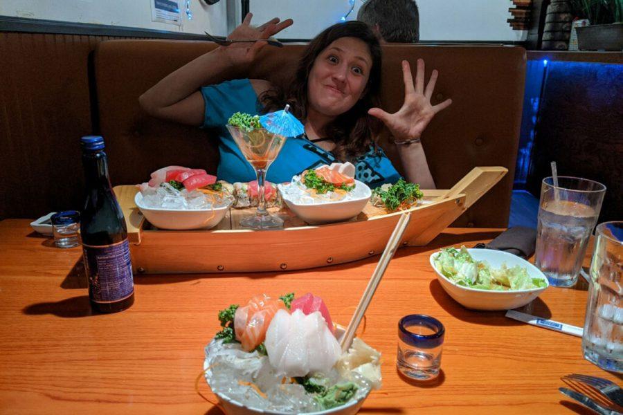 Women enjoying dinner at a restaurant
